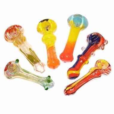 Голяма стъклена лула със сменящи се цветове