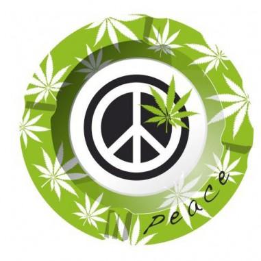 Метален пепелник Peace weed